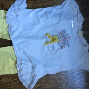 Zara girls outfit (size 5 pants, size 6 top)